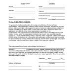 Contractor Release Form (Final Waiver of Lien)